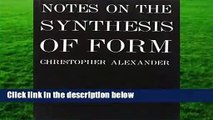 [GIFT IDEAS] Notes on the Synthesis of Form (Harvard Paperbacks) by C Alexander