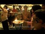 Krishna Janmashtami aarti at Iskcon temple