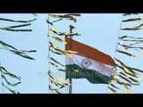 Indian tricolour hoisted at the India--Pakistan Border : Wagah!