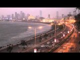 Marine Drive -  Fast motion day to night time lapse