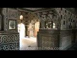 Interior wall paintings of Amer Fort, Jaipur