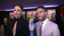 "Charlize Theron and Seth Rogen learn what ""snog"" means!"