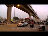 Time lapse of traffic and people near Azadpur mandi
