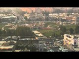 Central park of Connaught Place aerial view