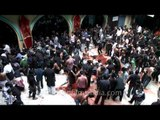Gallons of blood on the floor after self flagellation on Muharram