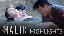 Lino saves Baby CJ and Jacky from drowning | Halik
