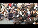 Foreigners protest with Indians - is it the Tiananmen Square of India??