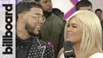 Anuel AA & Karol G Talk Touring Together & BBLMA Nominations | Billboard Latin Music Awards 2019