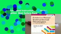 Evidence-Based Instructional Strategies for Transition  Best Sellers Rank : #5