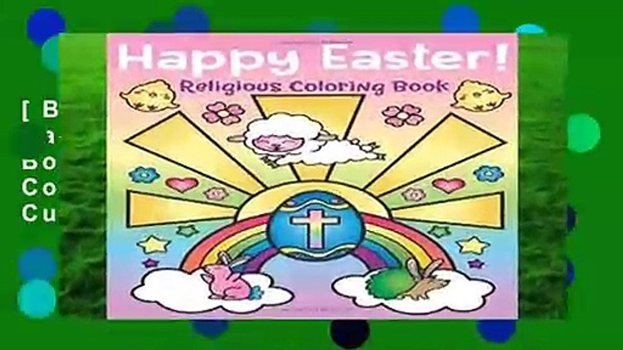 [BEST SELLING] Happy Easter! Religious Coloring Book: of Christian Coloring  Quotes and Cute