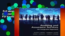 Full version  Auditing and Assurance Services  For Kindle
