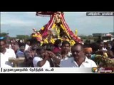 Whipping and breaking coconuts on one's head - unique ways of woship at Namakkal
