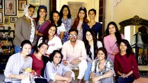 Irrfan Khan Poses Cutely With The Cast Of His Upcoming Movie 'Angrezi Medium'