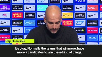 Subtitled) Guardiola says football is not an 'individual game' after