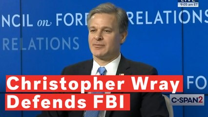 Christopher Wray Defends FBI Against Trump's 'Dirty Cops' Claim
