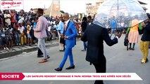 Les SAPEURS rendent hommage à Papa Wemba trois ans après son décès