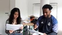 Yasmine et Antoine, élèves de la classe prépa théâtre à la Maison de la Culture de Seine-Saint-Denis à Bobigny