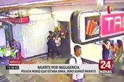 México: mujer fallece tras no recibir ayuda inmediata dentro de estación de tren