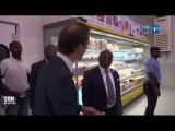 RTG/Le ministre du commerce effectue une visite au super marché Sangel afin de renforcer le partenariat avec les responsables du dit super marché