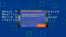 About For Books  Augmented Reality for Developers: Build practical augmented reality applications