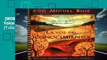[MOST WISHED]  La Voz del Conocimiento: The Voice of Knowledge, Spanish-Language Edition (Toltec