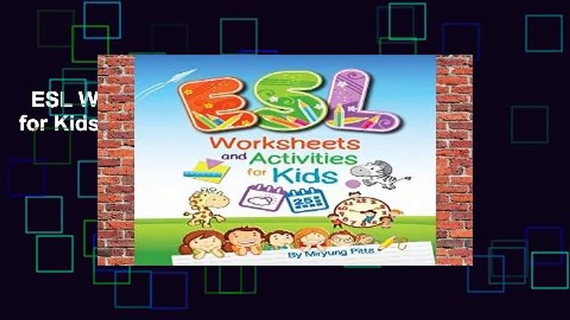 ESL Worksheets and Activities for Kids Complete