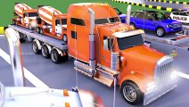 Car Carrier Truck Toy Transporting Street Vehicles to Learn Colors for Children, Vehicles Parking
