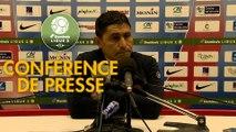 Conférence de presse Châteauroux - Havre AC (1-0) : Nicolas USAI (LBC) - Oswald TANCHOT (HAC) - 2018/2019