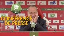 Conférence de presse Stade Brestois 29 - RC Lens (2-0) : Jean-Marc FURLAN (BREST) - Philippe  MONTANIER (RCL) - 2018/2019