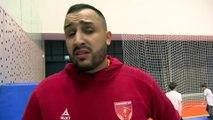 Walid Bensemra après la victoire de Martigues contre Boulogne Billancourt
