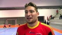 Yoann Ramognino après la victoire de Martigues contre Boulogne Billancourt