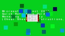 Microsoft Project 2010 Quick Reference Guide: Managing Complexity (Cheat Sheet of Instructions,