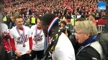Coupe de France : la joie des supporters et des joueurs du Stade Rennais