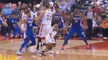 Kawhi Leonard Shocks Drake & Entire Crowd By Murdering Sixers In Game 1! Sixers vs Raptors Game 1
