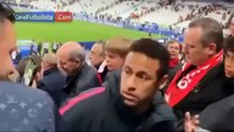 Neymar Get Angry & Punching Fan After PSG Lost Against Rennes In The Final
