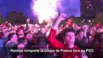 Football: la fête des supporters de Rennes