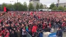 L'ambiance de folie à Rennes pour le retour des joueurs