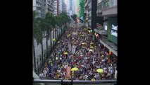 Des milliers de personnes manifestent dans les rues de Hong Kong contre un projet de loi du gouvernement local