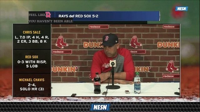 Alex Cora Says Red Sox Need To Find Consistency Follow Loss To Rays