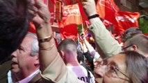 Socialistas apoyan el discurso de Unidas Podemos desde Ferraz