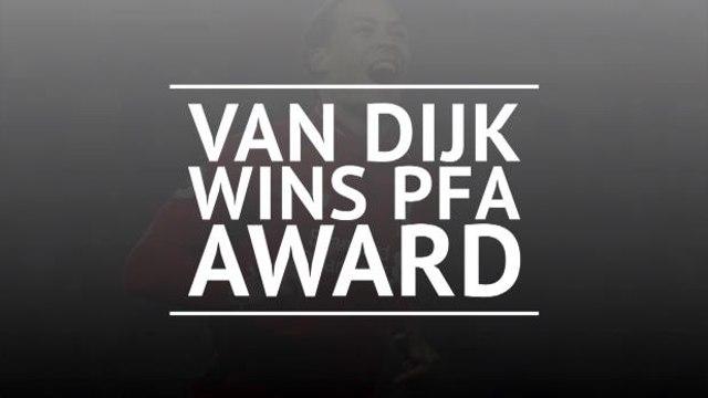 Virgil van Dijk wins PFA Players' Player of the Year