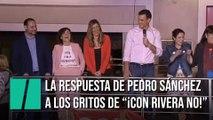 """La rotunda respuesta de Pedro Sánchez a los gritos de """"¡Con Rivera no!"""""""