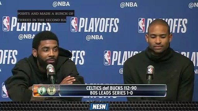 Kyrie Irving Says Celtics Vibing Well Together During Playoff Run
