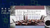 R.E.A.D Legal Research and Writing for Paralegals (Aspen College) D.O.W.N.L.O.A.D