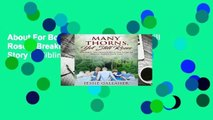 About For Books  Many Thorns, Yet Still Roses: Breaking the Silence with Our Story of Sibling