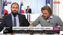 """En direct dans """"Morandini Live"""", le gilet jaune Thierry-Paul Valette sort des pâtes et de la """"poudre de perlimpinpin"""" pour résumer les annonces d'Emmanuel Macron - VIDEO"""