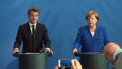 Balkans occidentaux - Déclaration conjointe avec la Chancelière allemande Angela Merkel