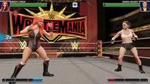 Becky Lynch Vs Ronda Rousey In WWE Mayhem At Wrestlemania 35