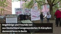 Protest in Berlin für die Rückkehr von Kindern von IS-Kämpfern