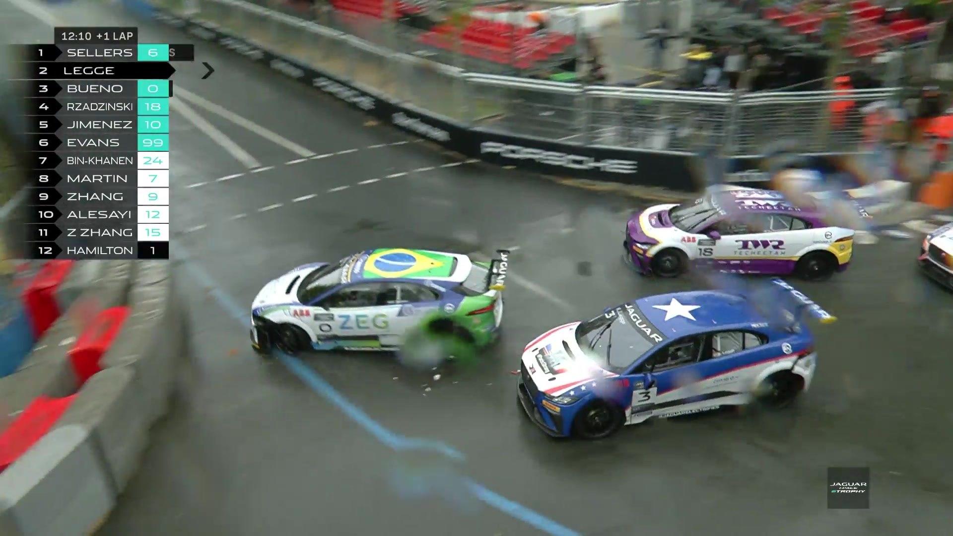 Bryan Sellers wins in Paris to take Jaguar I-Pace eTrophy Series lead